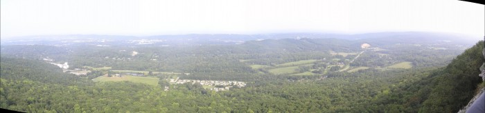 You can see seven states from the top of Lover's Leap.