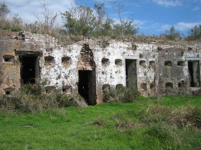Some people might remember this fort from the TV series True Detective. The first season finale was filmed here.