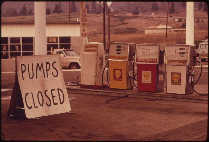 6. The gas shortage in 1973.