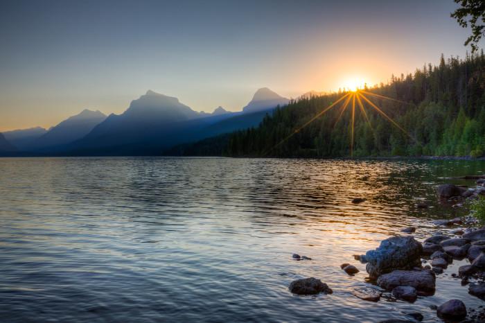 "9. ""Glacier - Lake McDonald Sunrise"""
