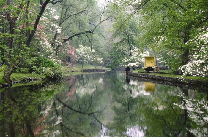 5. Hagley Mill Race and Eleutherian Mills on the grounds of the Hagley Museum and Library