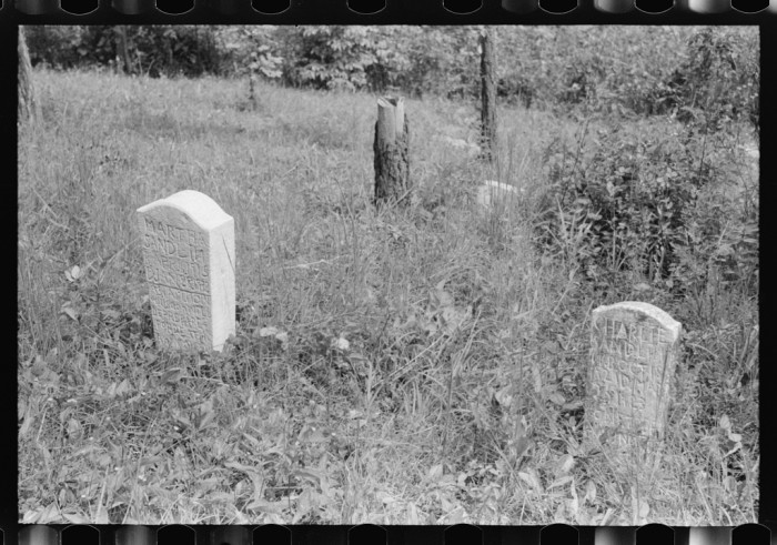 9.  Hand carved grave stones marked the resting spot of those who traveled on.