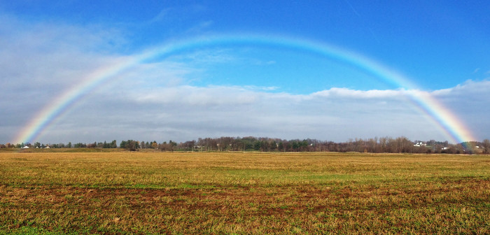 10. An enchanting rainbow perfectly captured in Adams.