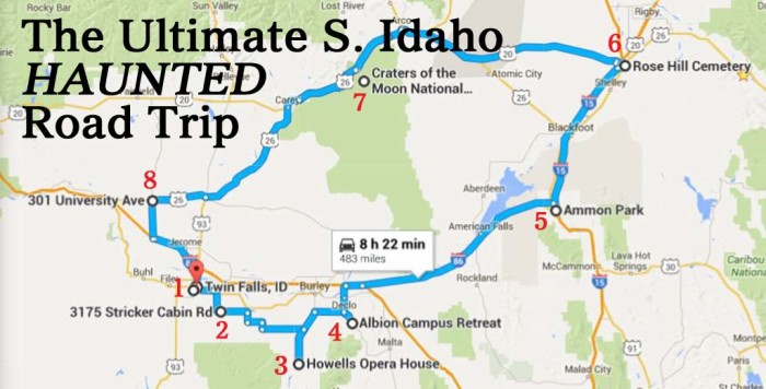 Albion Idaho Map.The Ultimate Haunted South Idaho Road Trip