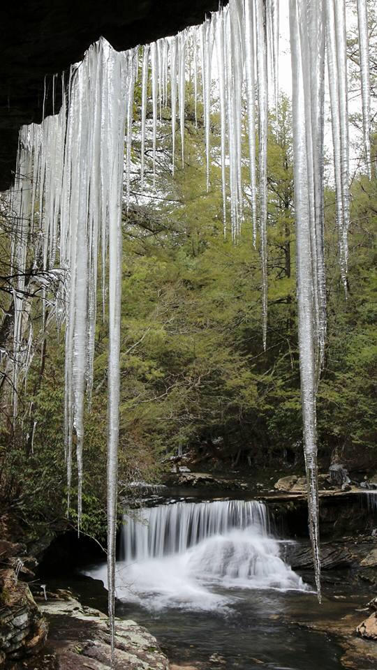 12) An icy view of hidden falls