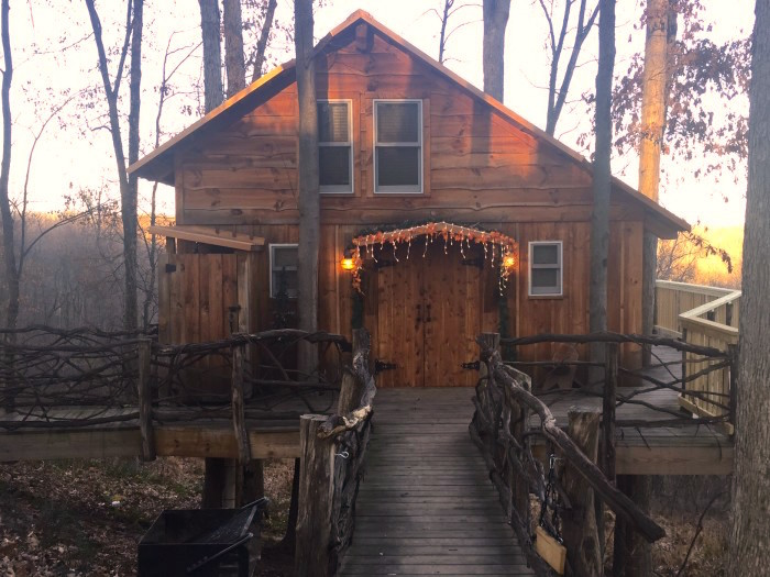 12. Book a weekend away in a cabin or treehouse.