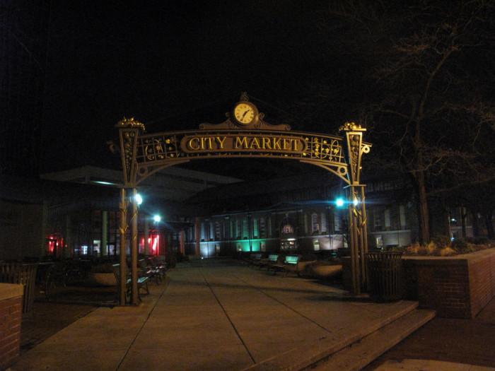 Indy City Market Sign