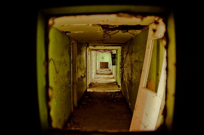 3. Hallway of destroyed patient rooms in one of the wards