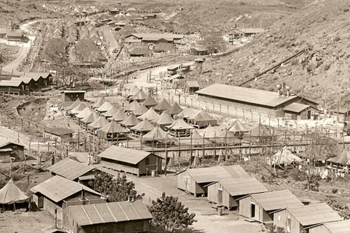 Shortly after the Japanese air strikes on Pearl Harbor, government officials began to round up Japanese-Americans suspected of disloyalty throughout the islands.