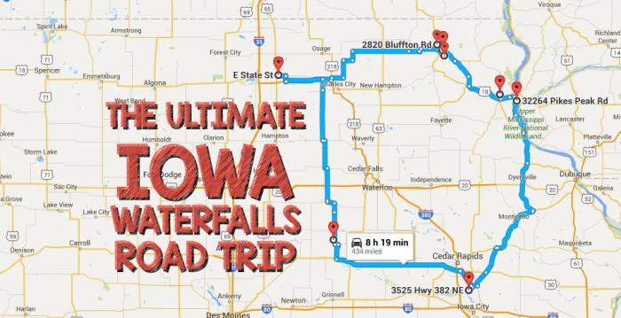 The Ultimate Iowa Waterfalls Road Trip