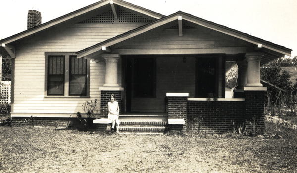 1. Imogene Bubbett Rahn on the porch of her house on Seminole Avenue