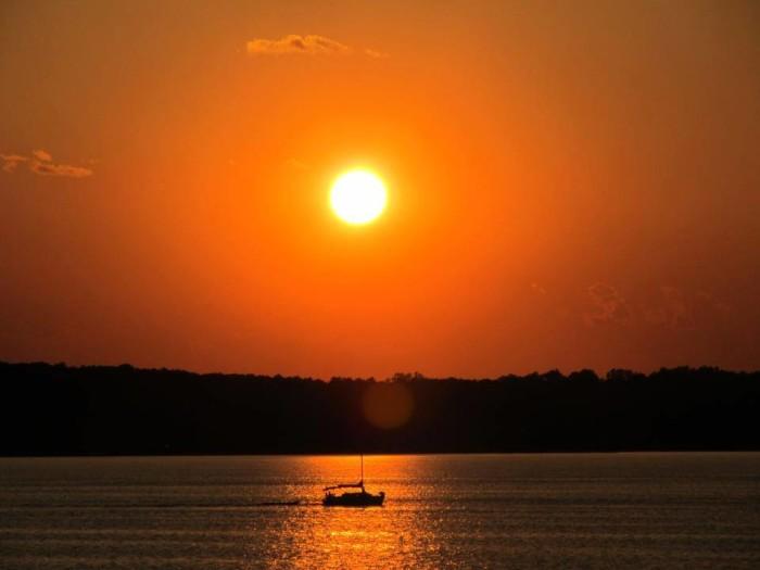 8. Kentucky Lake sunset