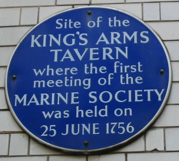King's_Arms_Tavern_plaque_London_1756