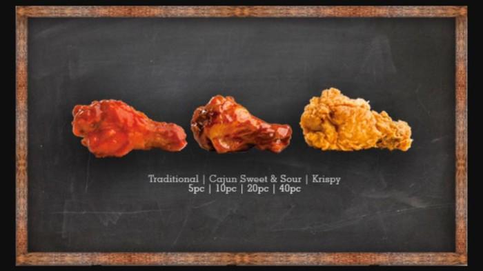 Krispy Krunchy Chicken food.