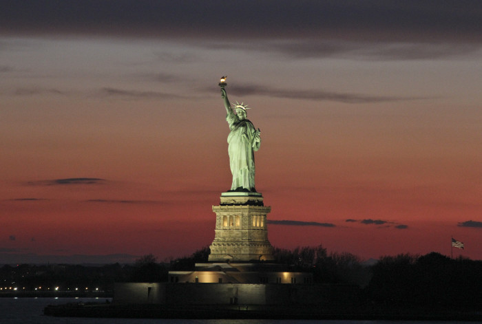 9. Surpassing time at over one hundred years old, the Statue of Liberty is an unforgettable historical landmark of America.