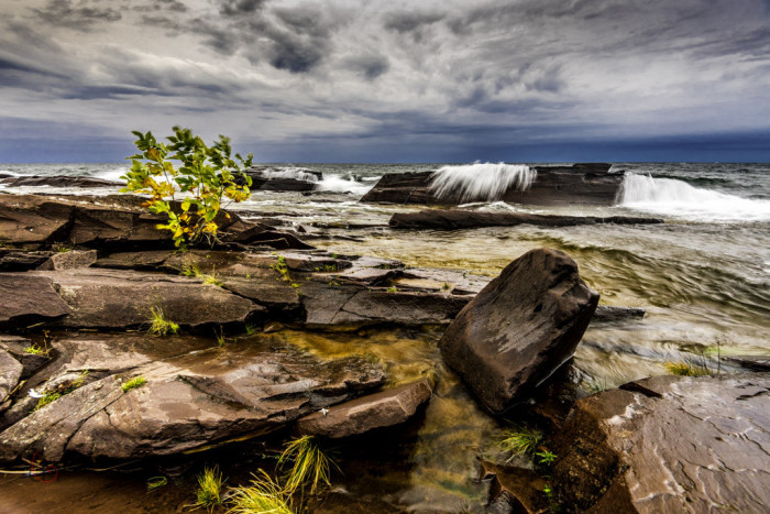 2) Lake Superior shoreline
