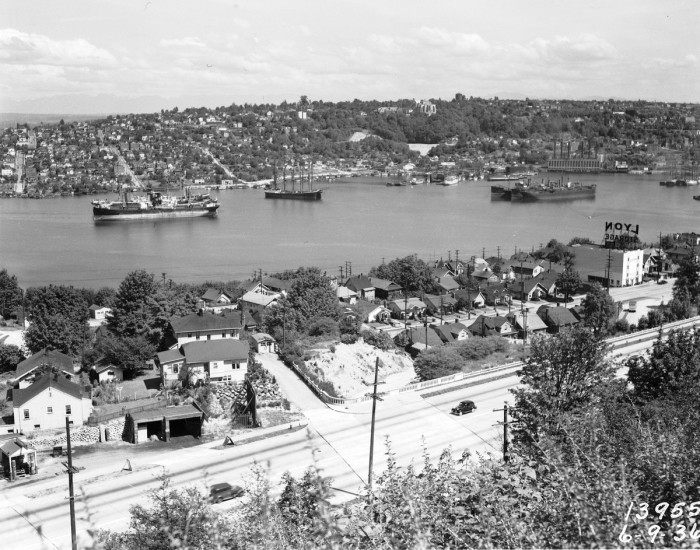 11. In this photo, you can see Lake Union from the Queen Anne Hill. Taken in 1936.