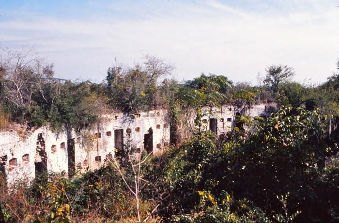 Fort Macomb was built in 1822, seven years after the British forces invaded New Orleans.