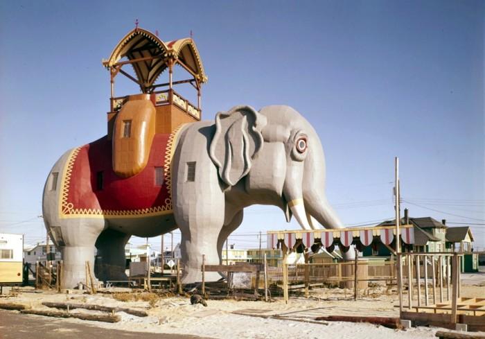 12.  Lucy the Margate Elephant, Atlantic Avenue & Decatur Street, Margate City circa 1977.