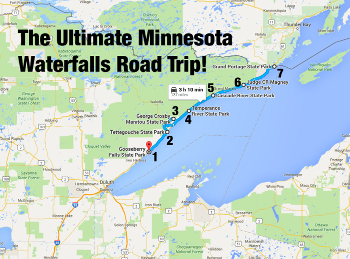 The Ultimate Minnesota Waterfalls Road Trip - State of minnesota map
