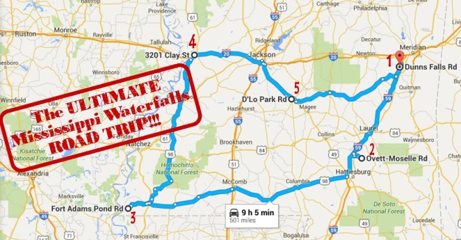The Ultimate Mississippi Waterfalls Road Trip Is Right Here And - Ms road map