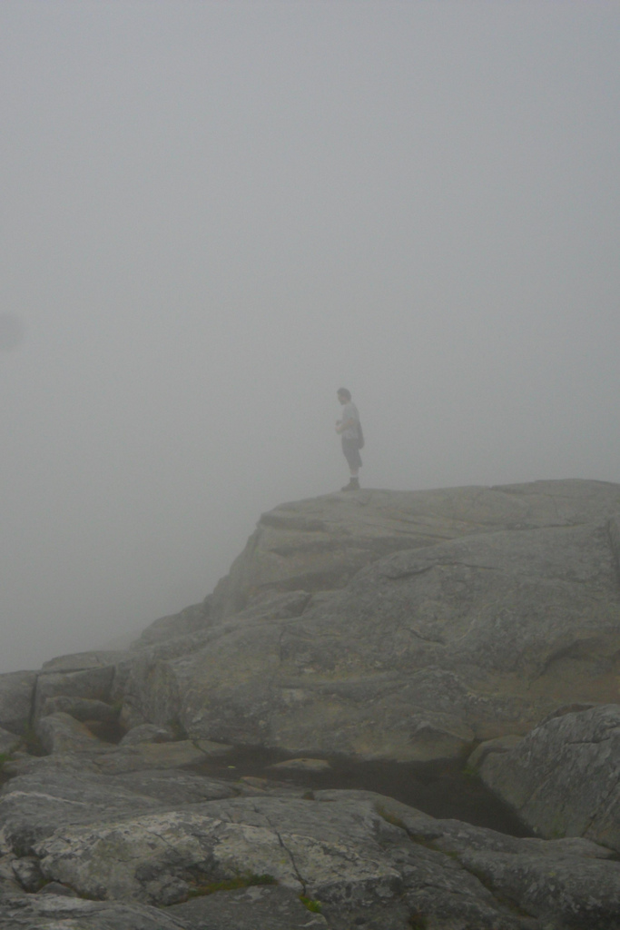 8. Not much of a view from the summit of Mount Monadnock.