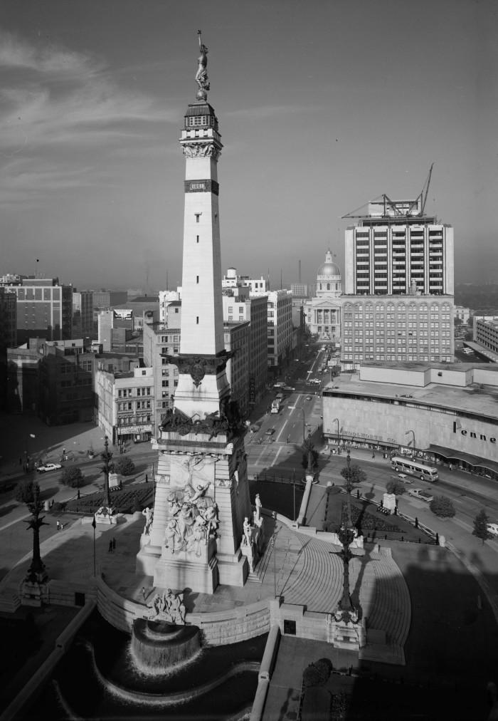Some of the buildings are timeless, like Monument Circle in Indianapolis. This photo was taken in 1970.