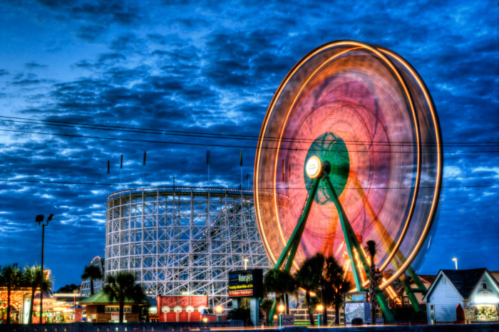 2. Family Kingdom Amusement Park in Myrtle Beach is a great place for a movie scene.