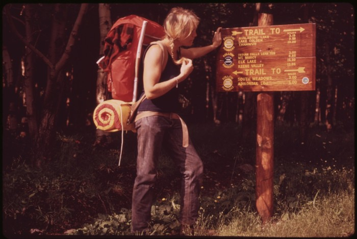 1. Pictured here you can see one of New York's many explorers, getting ready to tackle the Adirondacks!