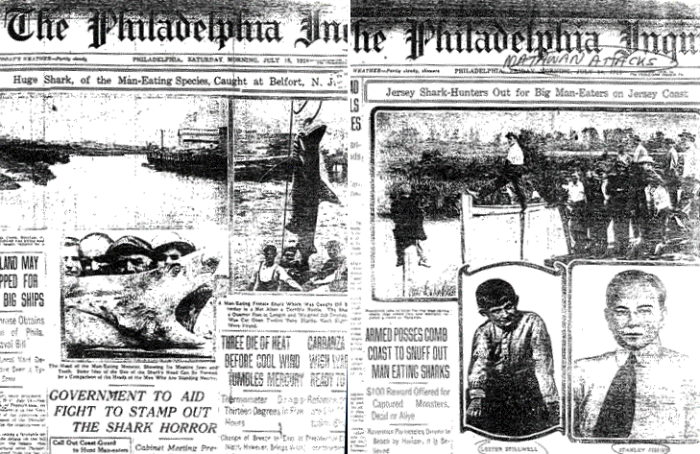 """12. New Jersey's 1916 tragedy inspired the movie """"Jaws."""""""