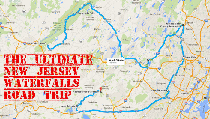 The Ultimate New Jersey Waterfalls Road Trip - Nj road map