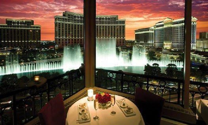 2. ...fine French cuisine atop Las Vegas' very own Eiffel Tower.