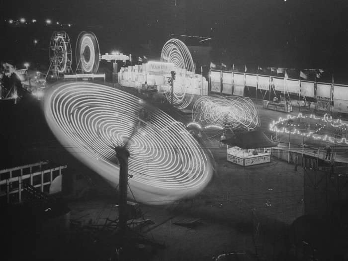 2. The lights of the Nebraska State Fair are dazzling in this photo from 1950.