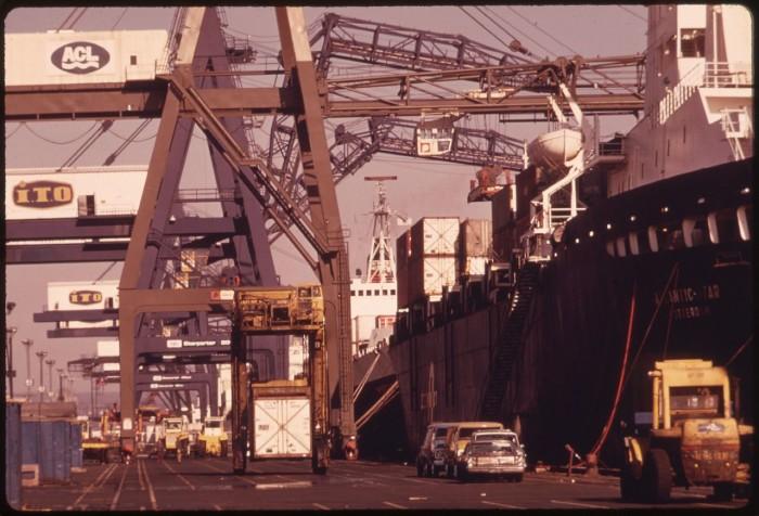 10. The Port of Newark circa 1974.