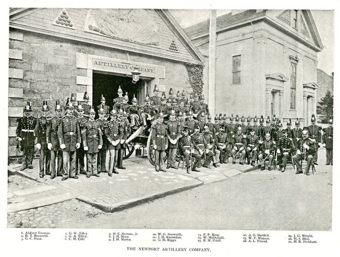 7. The Newport Artillery stands for a group photo in 1891 in this amazing picture.