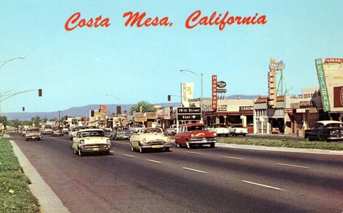 1. Cruising down Newport Boulevard in Costa Mesa.
