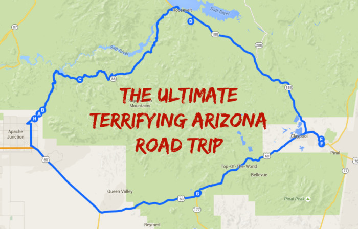 Spooky Arizona Road Trip – Arizona Tourist Map