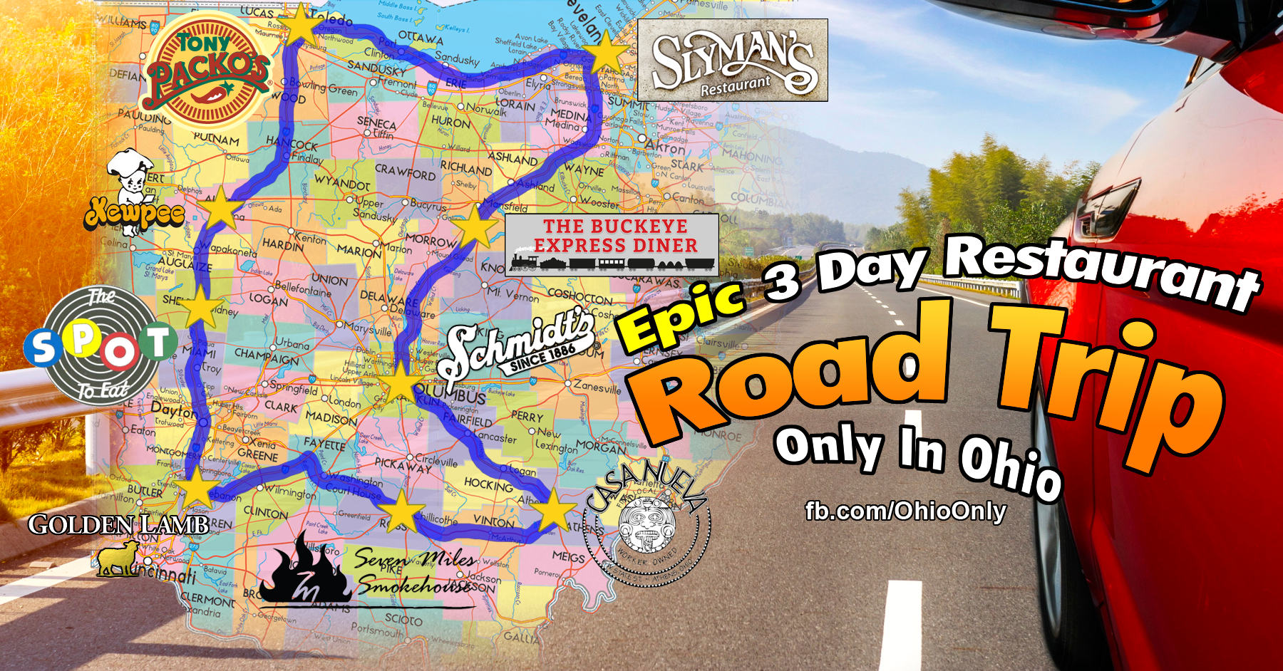 This Epic 3 Day Restaurant Road Trip In Ohio Will Make