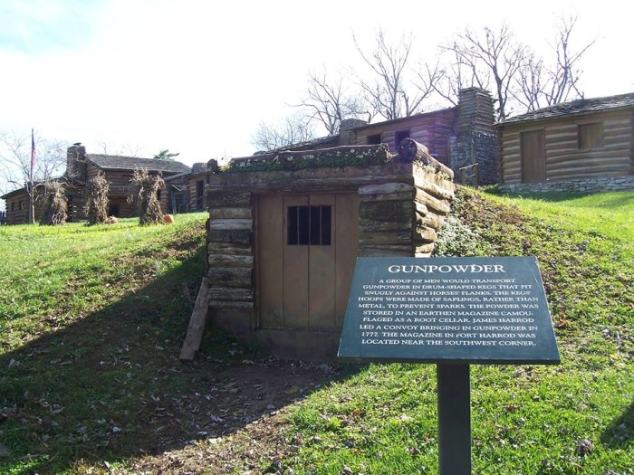 7. Old Fort Harrod State Park at 100 S College Street in Harrodsburg
