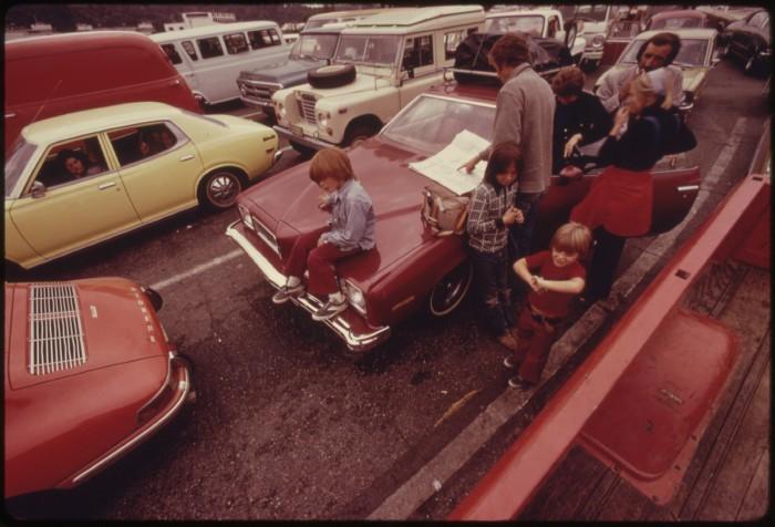 7. Waiting for the Bainbridge Island ferry in September 1974.