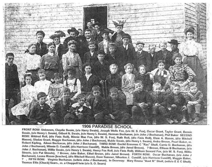 Paradise school 1906.