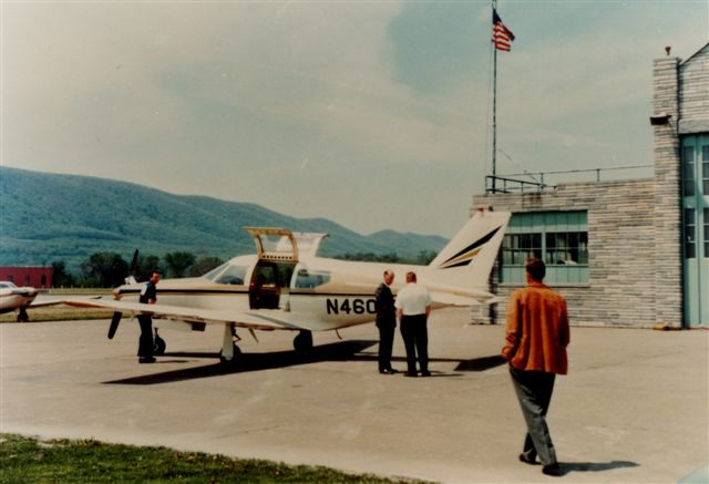 12. Here's the Lycoming Hangar in Williamsport as it looked in 1966. This is the only known photograph of this particular aircraft on the ground.
