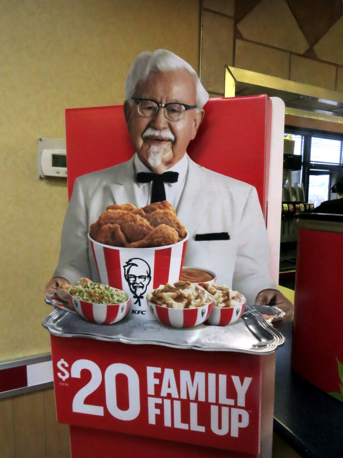 2. Possibly the country's most famed Colonel and bucket