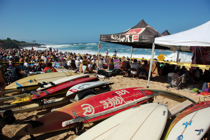 Every year, several professional surfers are invited to participate in the event. This year, the featured invitee is Clyde Aikau, Eddie's brother and winner of the second Eddie event.