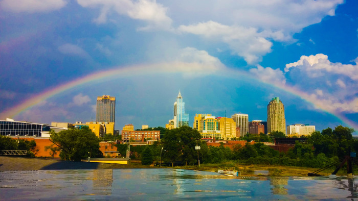 6. A gorgeous rainbow over Raleigh...makes me wonder where the pot of gold is!