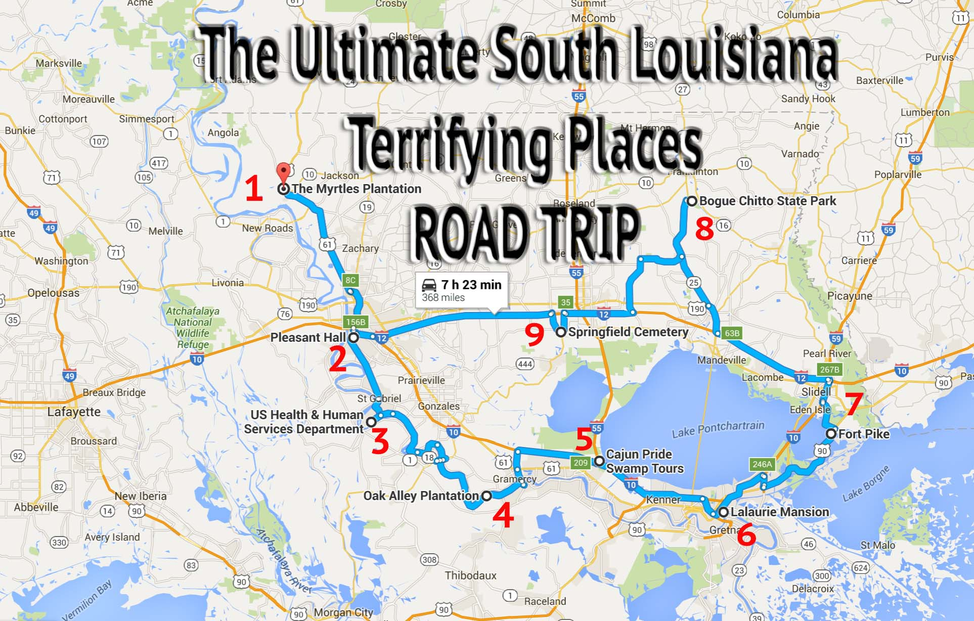 A Fully Guided Haunted Louisiana Road Trip
