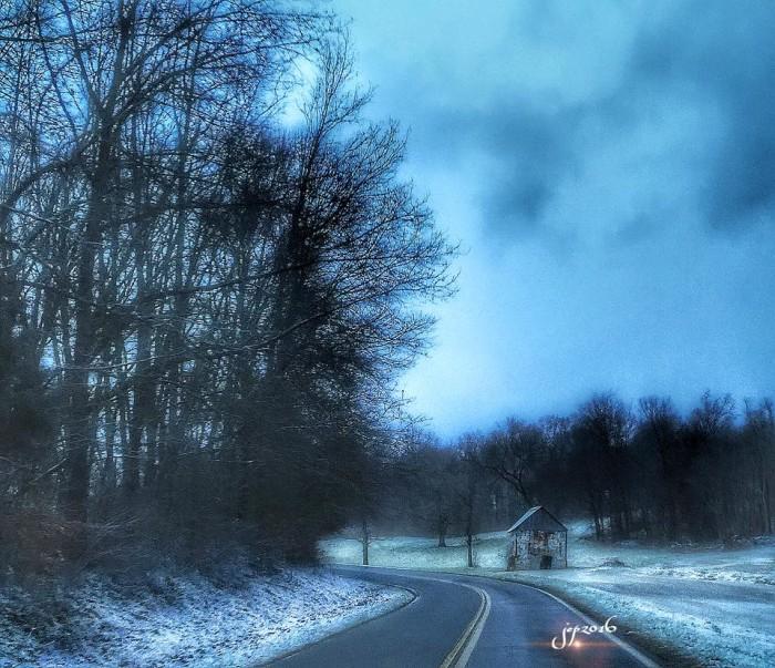 10) Montgomery County backroads look pretty dang beautiful in the wintertime