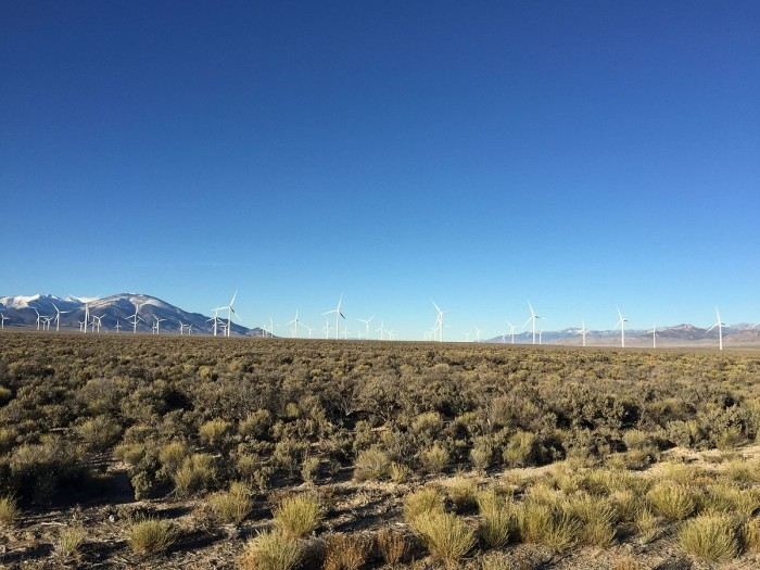 1. Pictured is the Spring Valley Wind Farm, located in Spring Valley, Nevada.