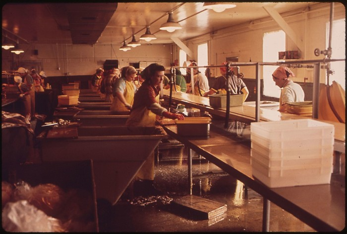 4. A seafood processing plant in Astoria, 1972.