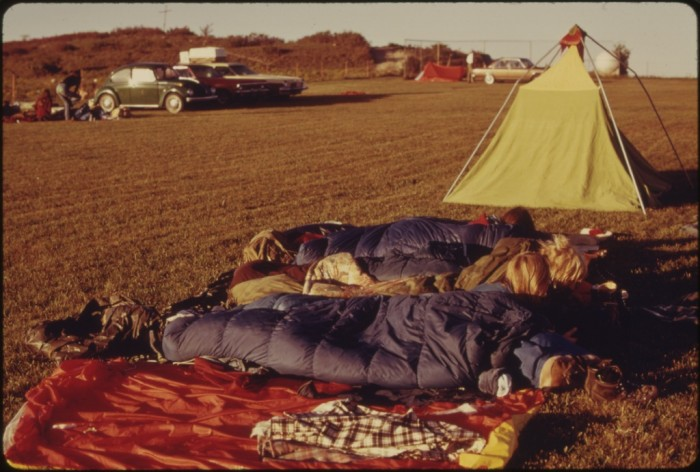 "12. ""Some of the students camped out while attending the second annual Tallgrass Prairie National Park Conference held at a YWCA camp in Elmdale, Kansas."" (1975)"